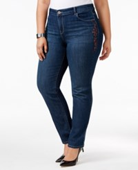 Styleandco. Style Co. Plus Size Embroidered Marseilles Wash Slim Leg Jeans Only At Macy's