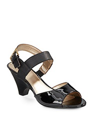 Circa Joan And David Naylor Matte And Patent Leather Sandals