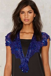 Belinda Beaded Shawl Blue