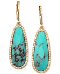Lonna And Lilly Gold Tone Stone And Crystal Drop Earrings Turquoise
