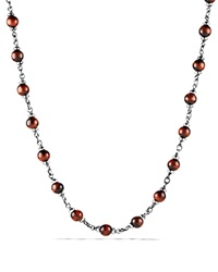 David Yurman Spiritual Beads Rosary Necklace In Red Tiger Eye