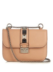 Valentino Lock Rolling Small Leather Shoulder Bag Nude