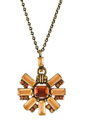 Konplott Aztec Necklace Brown Yellow Light Brown