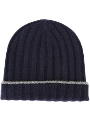 Brunello Cucinelli Ribbed Beanie Blue