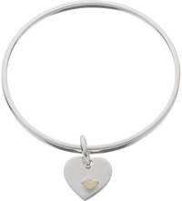 Links Of London Classic Heart Sterling Silver Bangle