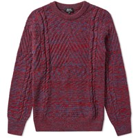 A.P.C. Wexford Intarsia Crew Knit Blue