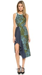 3.1 Phillip Lim Floral Dress With Cascading Ruffle Leaf Hydro
