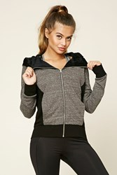 Forever 21 Active Faux Fur Lined Hoodie Charcoal Black