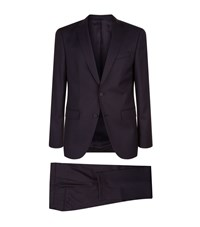 Boss Slim Fit Travel Suit Male Navy