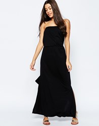Asos Bandeau Maxi Dress With Tie Waist Black