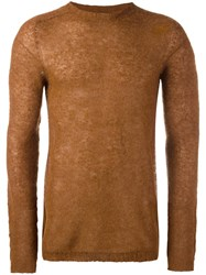 Laneus Crew Neck Jumper Brown