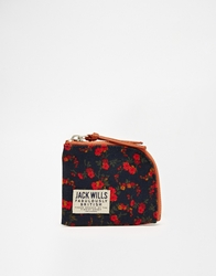 Jack Wills Coin Purse With Ditsy Floral Print Multi