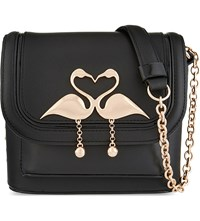Sophia Webster Claudie Small Leather Shoulder Bag Black