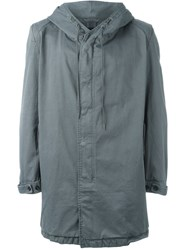 Avelon 'Just' Hooded Cuff Detail Jacket Grey