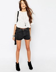 Pull And Bear Denim Short Black Black