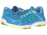 Ryka Influence 2.5 Brilliant Blue Ethereal Blue Lime Shock Frost Grey Women's Shoes