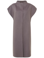 Jaeger Double Faced Wool Gilet Dark Taupe