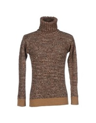Alpha Massimo Rebecchi Turtlenecks Camel