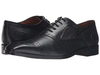 Massimo Matteo Deerskin And Leather Bal Perf Black Men's Shoes