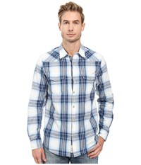 Lucky Brand Santa Fe Western Shirt Natural Navy Men's Clothing Neutral
