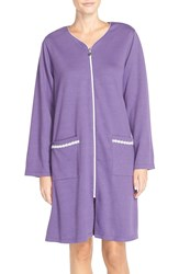 Eileen West 'Florent' Short Zip Robe Plum