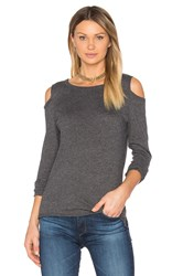 Nation Ltd. Olivia Cold Shoulder Tee Gray