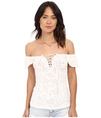 Free People Popsicle Off The Shoulder Top Ivory Women's Blouse White