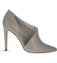 Reiss Connelly Leather Ankle Boots Grey