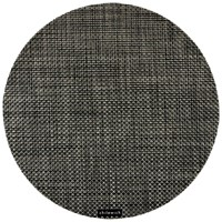 Chilewich Basketweave Round Placemat Carbon