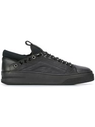 Bruno Bordese Eyelets Detail Sneakers Black