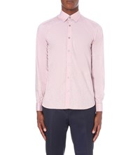 Ted Baker Modern Fit Floral Jacquard Cotton Shirt Red