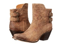 Lucchese Catalina Brown Floral Print Cowboy Boots