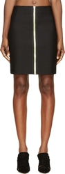 Alexander Wang Black Fitted Two Way Zip Pencil Skirt