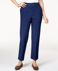Alfred Dunner Petite Sierra Madre Pull On Straight Leg Denim Pants