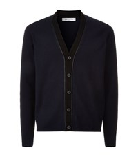 Sandro Merino Wool V Neck Cardigan Male