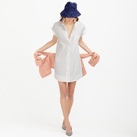 J.Crew Pre Order Petite Short Sleeve Cotton Shirtdress