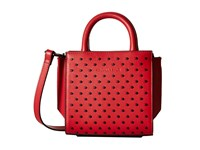 Kendall Kylie Brook Nano Studded Mini Satchel Ruby Red Satchel Handbags