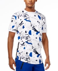 Sean John Men's Graffiti Print T Shirt Bright White