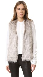 Cupcakes And Cashmere Rosette Faux Fur Vest Natural