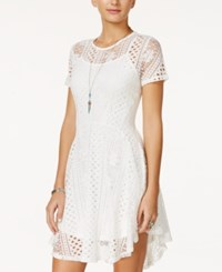 American Rag Lace Fit And Flare Dress Only At Macy's Egret