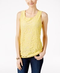 Charter Club Sleeveless Lace Top Only At Macy's Soft Daffodil