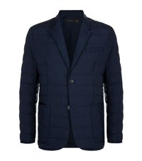 Corneliani Quilted Down Blazer Male Navy