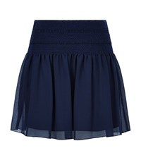 See By Chloe Shirred Mini Skirt Female Navy