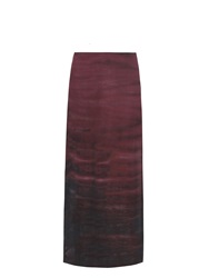 Raquel Allegra Sunset Tie Dye Washed Silk Crepe Maxi Skirt