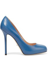 Sergio Rossi Barbie Leather Pumps Blue