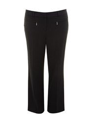 Evans Black Stretch Twill Trousers