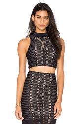 Nightcap Spiral Lace Crop Top Black
