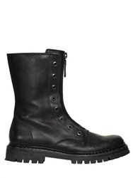 Diesel Black Gold Zip Smooth Leather Boots