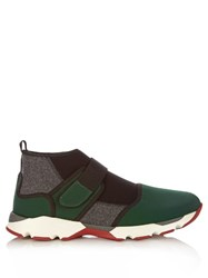 Marni Colour Block High Top Trainers Black Multi