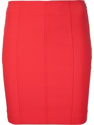 T By Alexander Wang Fitted Mini Skirt Red
